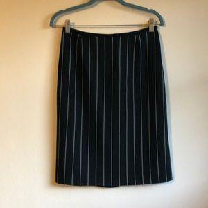 Armani pencil skirt black with white pinstripe